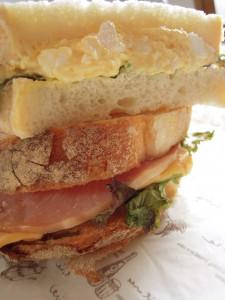 石窯焼イギリスパンのサンドウィッチ